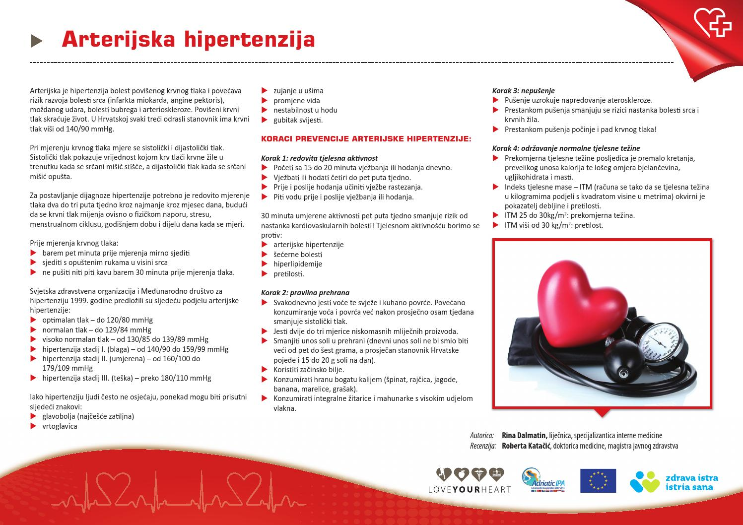 glavobolju, vrtoglavicu, hipertenzije