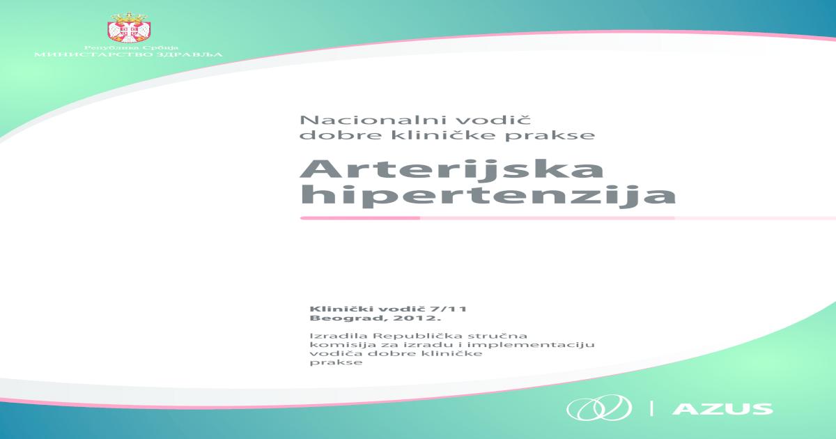 hipertenzije i začina hipertenzija u standardu hitne