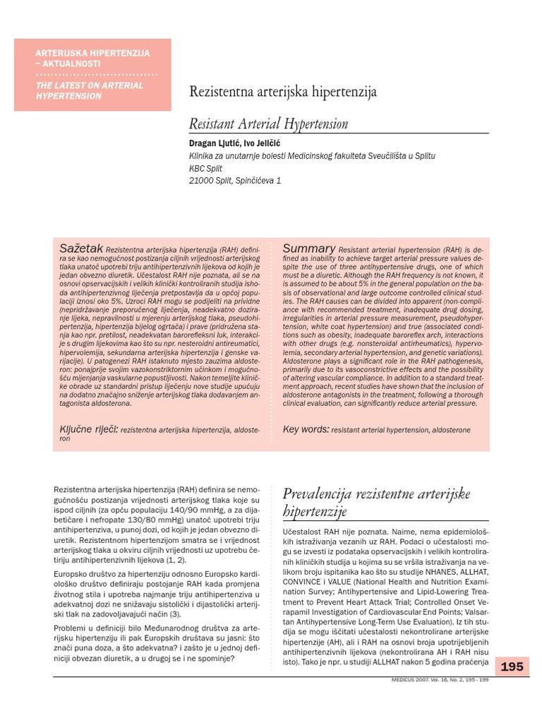 etiopatogenezu hipertenzije