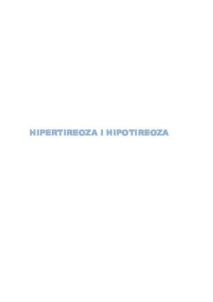 Hipotireoza - PLIVAzdravlje