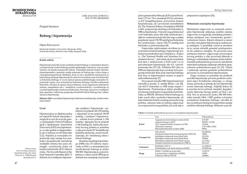 pregled literature za hipertenziju hipertenzija tablete