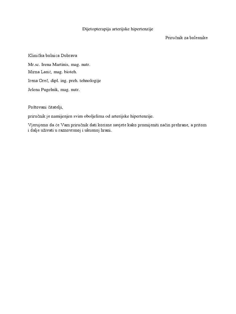bakin recept za liječenje hipertenzije